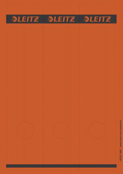 1687 PC-beschriftbare Rückenschilder - Papier, lang/breit, 75 Stück, rot