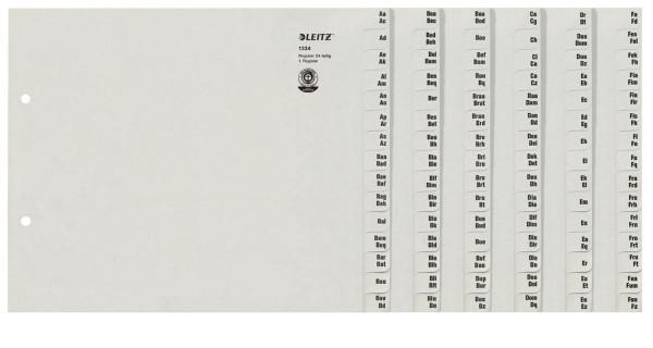 1324 Registerserie - A-Z, Papier, A4 Überbreite, für 24 Ordner, grau