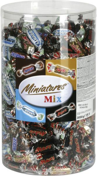 Schokolade Miniatures Mix 3 kg