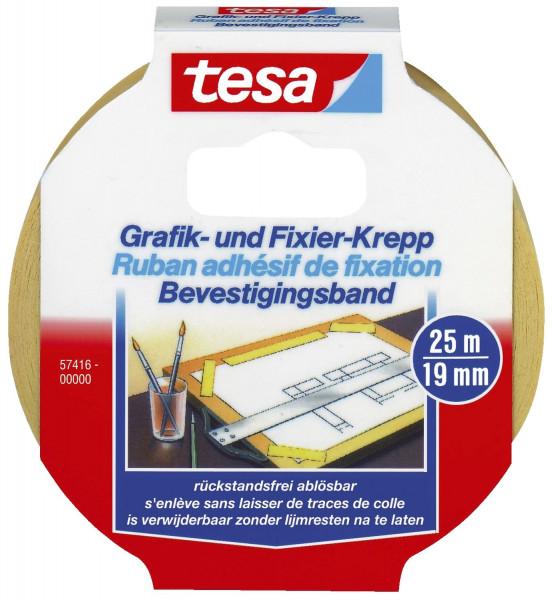 Fixierband Grafik- und Fixier-Krepp, Papier, 25 m x 19 mm, beige