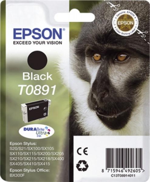 Epson T0891 Inkjet-Druckpatronen schwarz, 220 Seiten, C13T08914011
