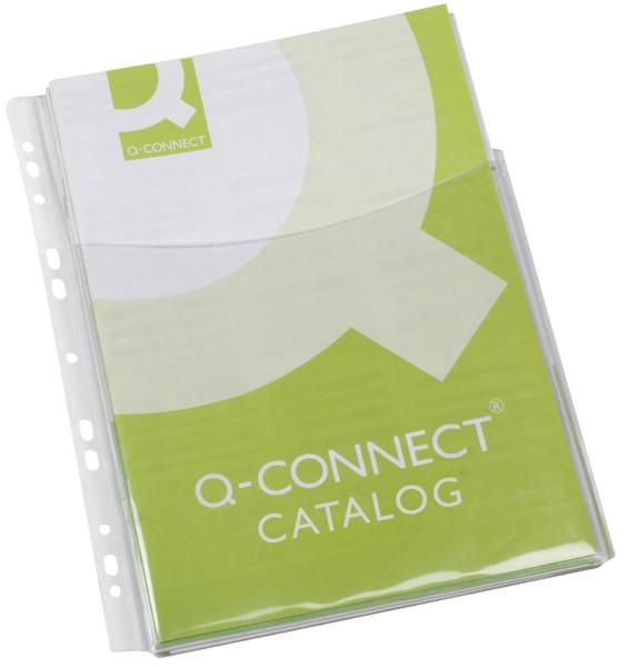 Q-Connect Klarsichthüllen für Kataloge - glasklar, 0,18 mm, A4, Folie 3/4 Höhe, 5 Stück