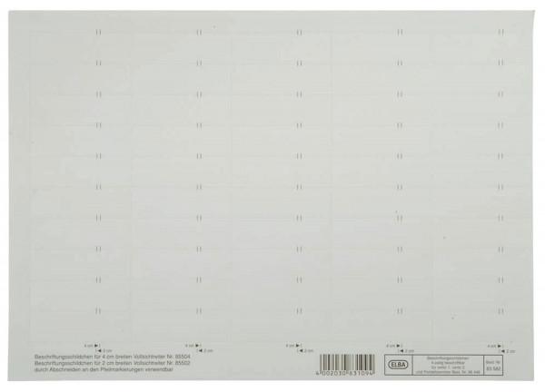 vertic® Beschriftungsschild für Registratur, 58 x 18 mm, weiß, 50 Stück
