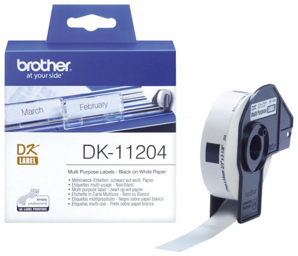 DK-Einzeletiketten Papier-Etiketten 400 Mehrzweck-/Absender-Etiketten 17x54 mm