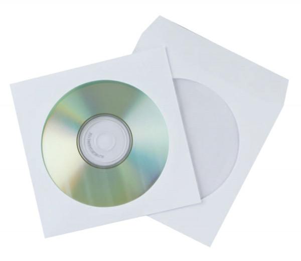 CD-Papierhüllen - weiß