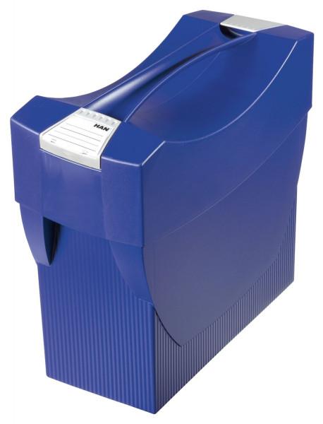 Hängemappenbox SWING-PLUS mit Deckel, für 20 Hängemappen, blau