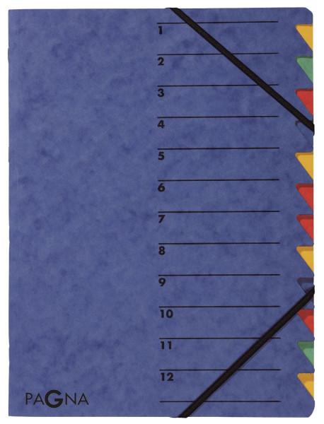 Ordnungsmappen EASY - mit 12 Fächern, blau