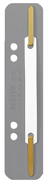 3710 Einhänge-Heftstreifen PP, kurz - grau, 25 Stück