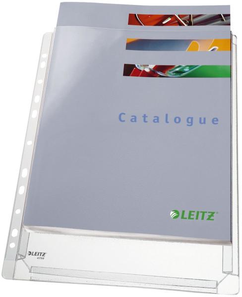 Leitz 4756 Prospekthüllen A4 Maxi, genarbt, 0,17 mm, A4, 5 Stück