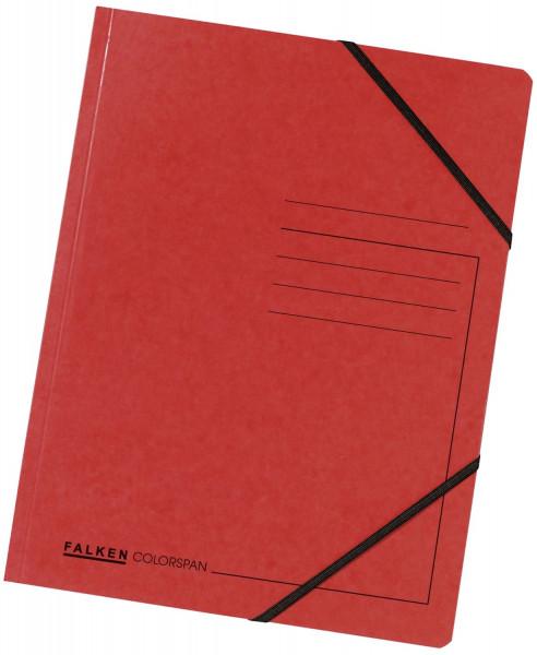 Falken Eckspanner A4 Colorspan intensiv rot, Karton 355 g/qm