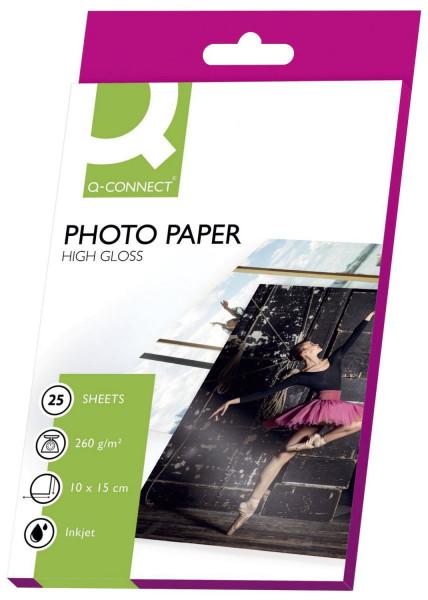 Inkjet-Photopapiere - 10x15 cm, hochglänzend, 260 g/qm, 25 Blatt