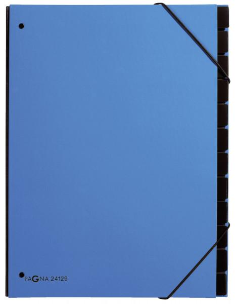Pultordner Trend - 12 Fächer, Eckspanngummi, hellblau