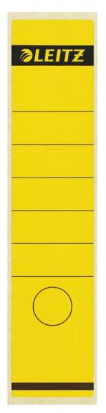 1640 Rückenschilder - Papier, lang/breit, 100 Stück, gelb
