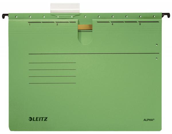 Leitz 1984 grün Hängehefter ALPHA® - kfm. Heftung, Recyclingkarton,