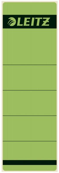 1642 Rückenschilder - Papier, kurz/breit, 10 Stück, grün