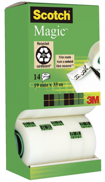 Scotch® Klebeband Magic 810, beschriftbar, 33mx19mm, 14 Rollen