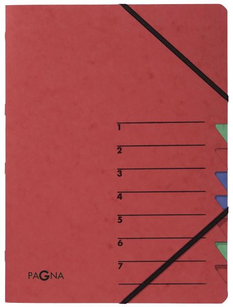 Ordnungsmappen EASY - mit 7 Fächern, rot