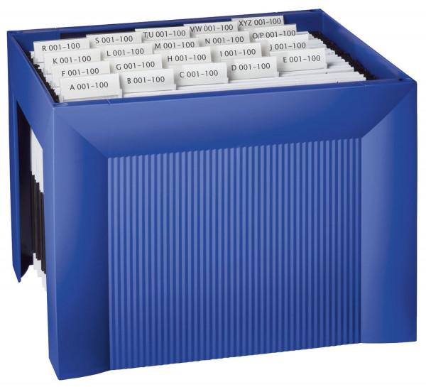 HAN 1905 Hängemappenregistratur KARAT, für 35 Hängemappen, extra stabil, blau