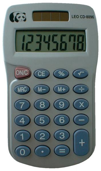LEO® Solar-Taschenrechner CD-8096, grau, 8-stellig