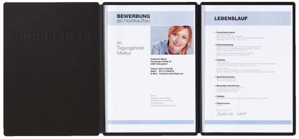 Bewerbungsmappe Supreme Schwarz Div Mappen Bürobedarf Buero