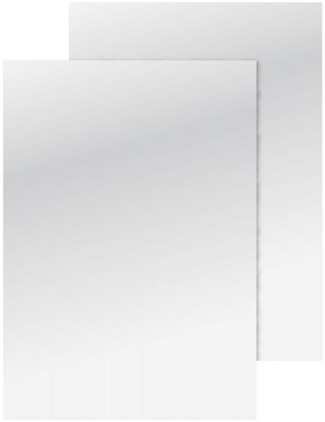 Q-Connect Deckblätter A4 glänzend, weiß, 250g 100 Stück