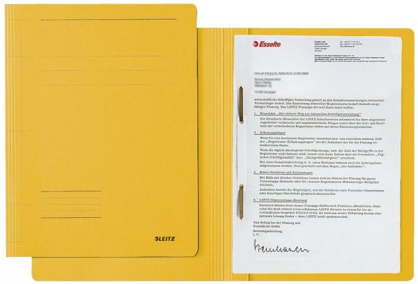 Leitz 3003 Schnellhefter Fresh, A4, Manilakarton, gelb