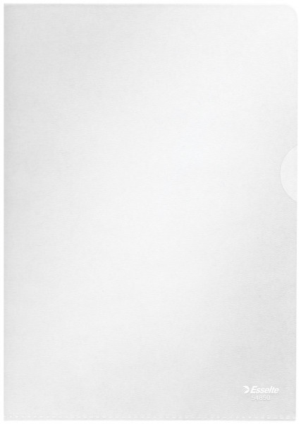 Sichthülle Standard Plus, A5, PP, genarbt, 100 Stück, farblos