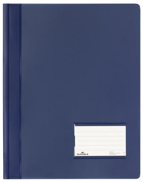 Schnellhefter DURALUX® - transluzente Folie, für A4 überbreit, dunkelblau