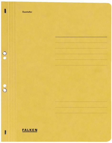 Falken Ösenhefter A4 ganzer Vorderdeckel, gelb, Manilakarton, 250 g/qm