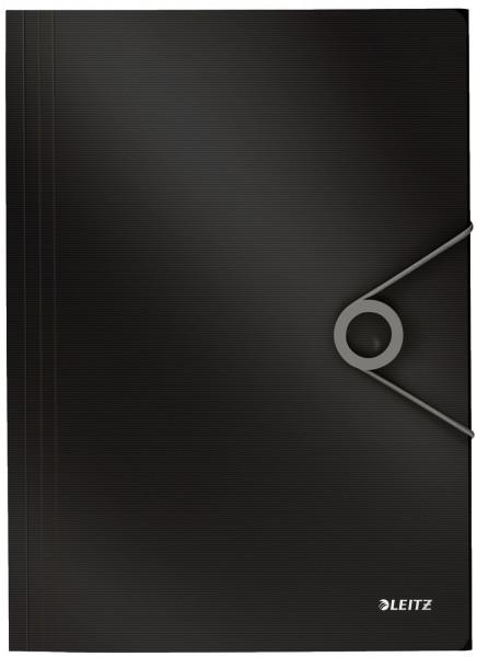 4563 Dreiflügelmappe Solid - A4, PP, schwarz