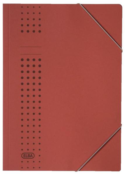 Elba Eckspanner chic, rot Karton (RC), 320 g/qm, A4