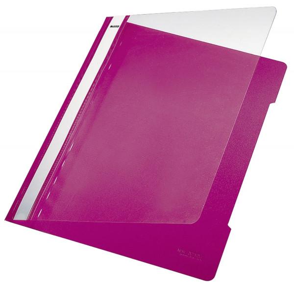 Leitz 4191 PVC Hefter pink Standard, A4, langes Beschriftungsfeld