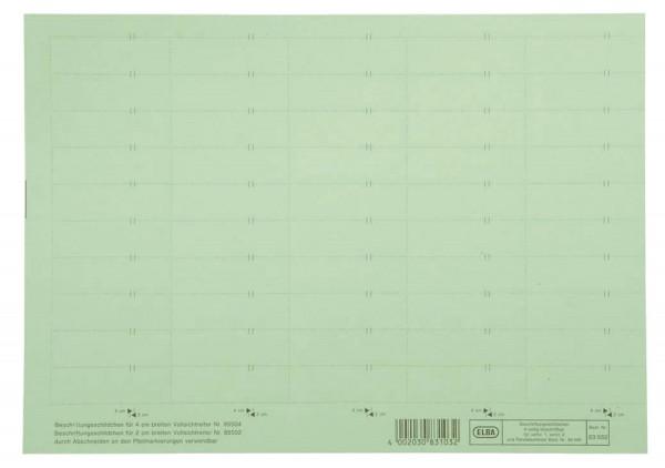 vertic® Beschriftungsschild für Registratur, 58 x 18 mm, grün, 50 Stück