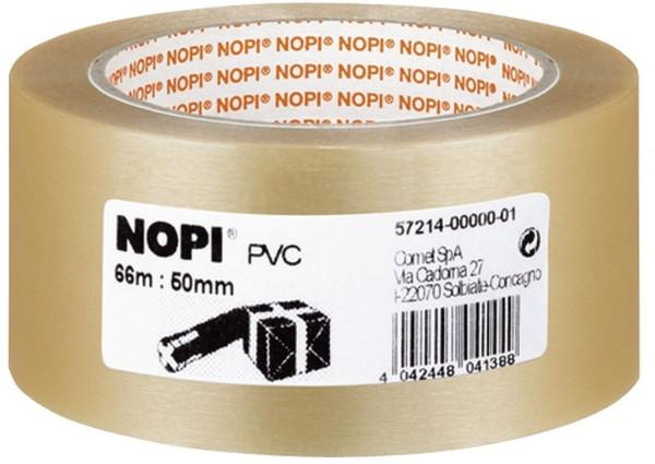 Nopi 57214 Packband 50 mm x 66 m, transparent, PVC