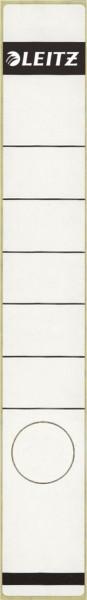 1648 Rückenschilder - Papier, lang/schmal, 10 Stück, weiß