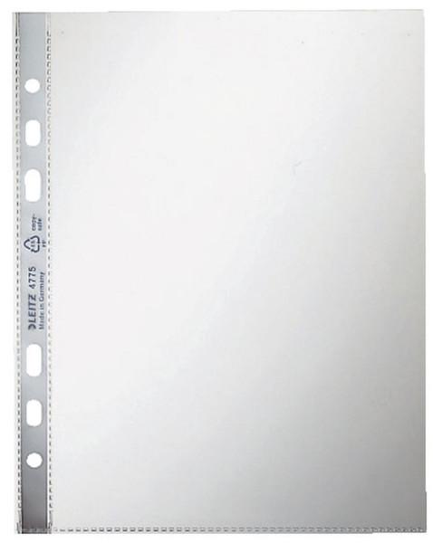 Leitz 4775 Prospekthülle, A5, PP, glasklar, 0,08 mm, farblos, 100 Stück