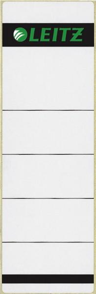 1642 Rückenschilder - Papier, kurz/breit, 10 Stück, hellgrau