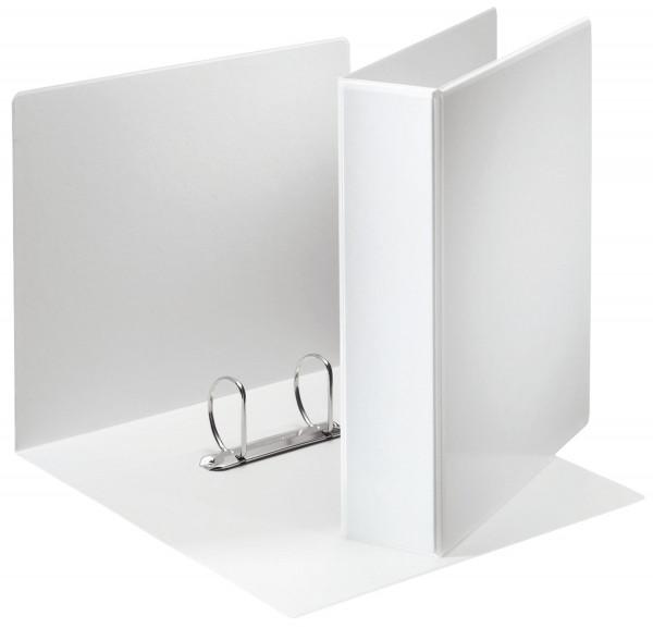Ringbuch Präsentation, mit Taschen, A4, PP, 2 Ringe, 50 mm, weiß