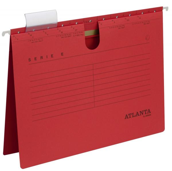 Atlanta Hängehefter rot Serie E, A4 kfm. Heftung Kraftkarton 230 g/qm