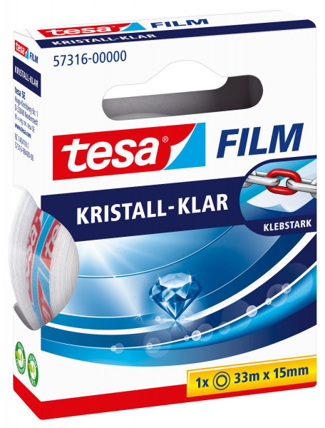Tesa® 57316 Klebefilm kristall-klar Bandgröße 33m x 15mm