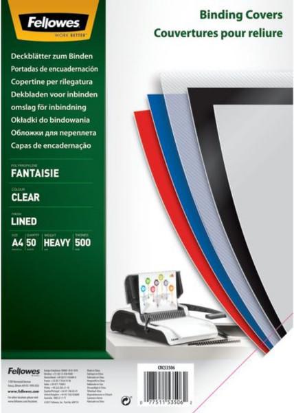 Deckblätter Fantasie - A4, PP, transparent,50 Stück