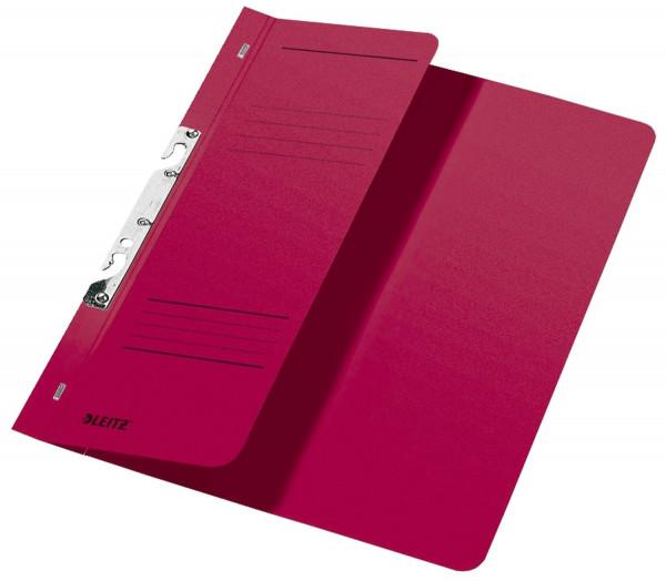 Leitz 3744 Schlitzhefter, rot halber Vorderdeckel, A4, kfm. Heftung, Manilakarton 250 g/qm