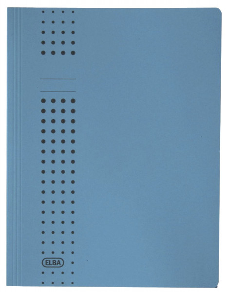 Sammelmappe chic, Karton (RC), 320 g/qm, A4, 10 mm, blau