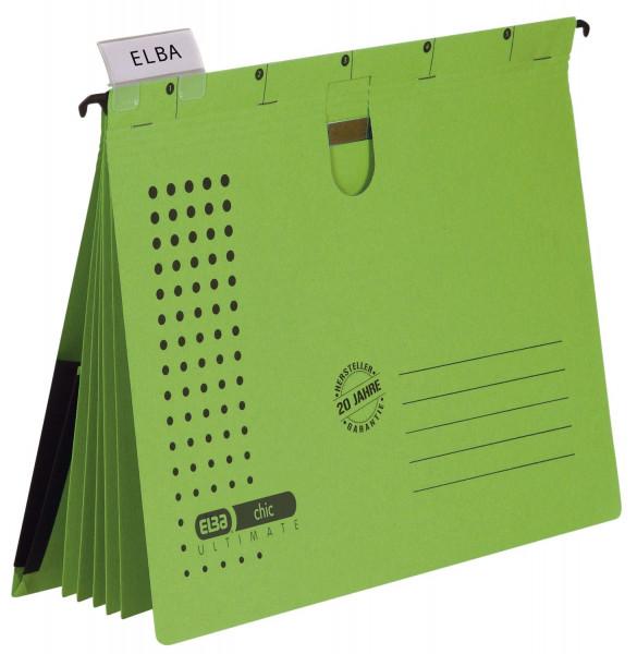 Organisationshefter chic - Karton (RC) 230 g/qm, A4, grün, 5 Stück
