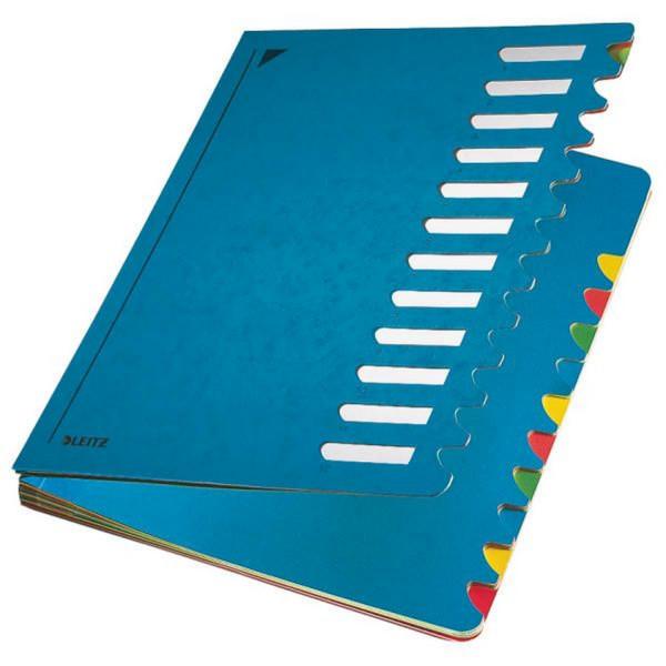 Leitz 5912 Deskorganizer Color 1-12, 12 Fächer, Karton, blau