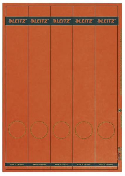 1688 PC-beschriftbare Rückenschilder - Papier, lang/schmal, 125 Stück, grün