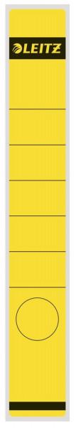 1648 Rückenschilder - Papier, lang/schmal, 10 Stück, gelb