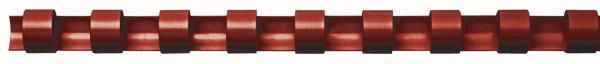 Plastik-Binderücken, 10 mm, für 65 Blatt, rot, 100 Stück