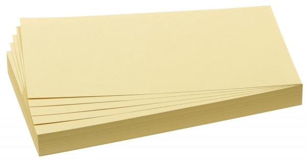 Moderationskarte, Rechteck, 205 x 95 mm, gelb, 500 Stück