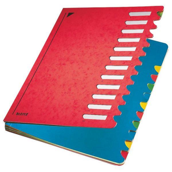 Leitz 5912 Deskorganizer Color 1-12, 12 Fächer, Karton, rot